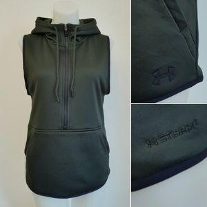 UNDER ARMOUR Storm 1/2 Zip Fleece Hooded Vest
